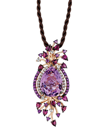Le Vian Crazy Collection Multi Stone Cord Pendant