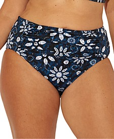 Plus Size Take a Dip Printed Tummy-Control Bikini Bottoms