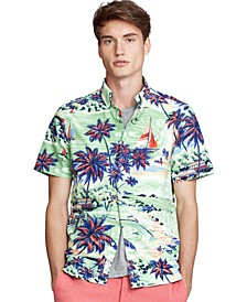 Men's Classic Fit Hawaiian Oxford Shirt