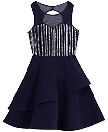 Big Girls Embellished Illusion Dress