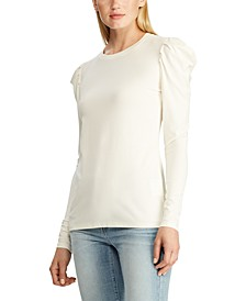 Puffled-Sleeve Top