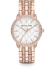 Women's Lady Nini Rose Gold-Tone Stainless Steel Bracelet Watch 35mm MK3237