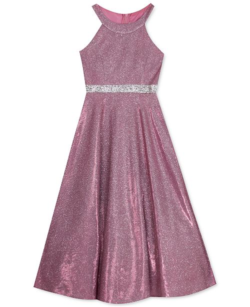 Rare Editions Big Girls Fuchsia Sparkle Gown