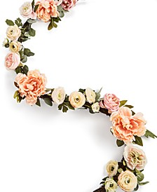 English Garden Artificial Ranunculus Garland, Created For Macy's