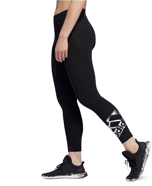 adidas Metallic-Logo Leggings