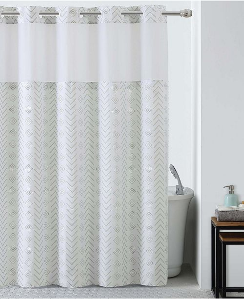 Hookless Tribal Shower Curtain with Peva Liner