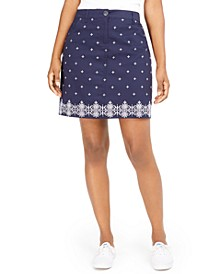 Petite Caraway Stars Embroidered Skort, Created for Macy's