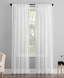 "Tamaryn Embroidered 50"" x 84"" Sheer Curtain Panel"