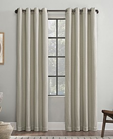 Belgian Waffle Cotton Blackout Curtain Panel Collection
