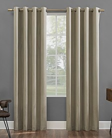"""Beck 52"""" x 84"""" Textured Geometric Thermal Extreme Blackout Curtain Panel"""