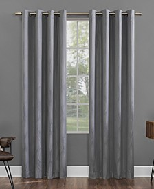 "Beck 52"" x 84"" Textured Geometric Thermal Extreme Blackout Curtain Panel"