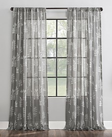 """Fossilized Floral 50"""" x 96"""" Sheer Curtain Panel"""
