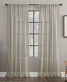 "Embroidered Border 50"" x 63"" Sheer Curtain Panel"
