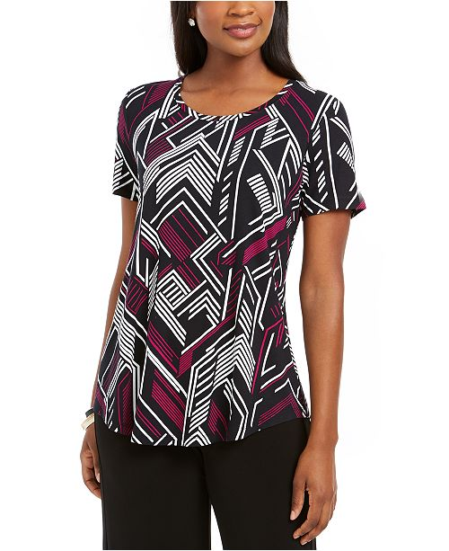 JM Collection Angle-Print Top, Created For Macy's