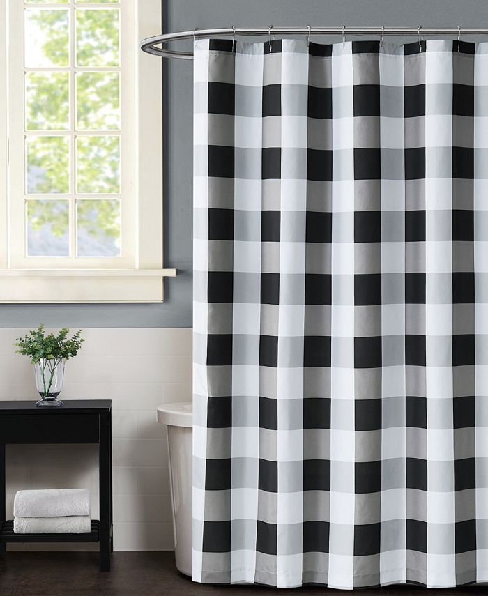 Truly Soft - Everyday Buffalo Plaid Navy Shower Curtain