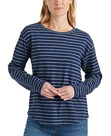Easy Striped Long-Sleeve T-Shirt