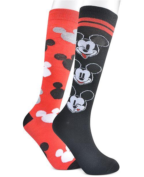 Planet Sox Women's 2-Pk. Mickey Mouse Knee-High Socks