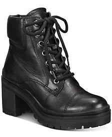Brania Heeled Combat Boots