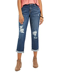 Curvy-Fit Ripped Girlfriend Jeans, Created For Macy's