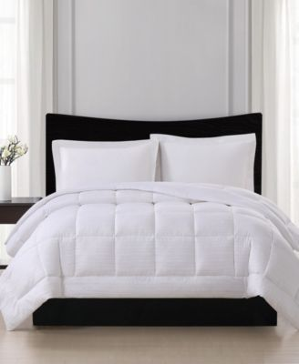 Embossed Stripe Seersucker Down Alternative Comforter, King