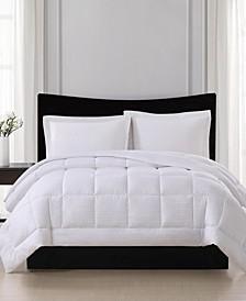 Embossed Stripe Seersucker Down Alternative Comforter