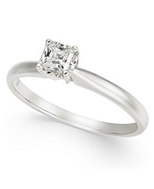 Diamond Princess Solitaire Engagement Ring (1/4 ct. t.w.) in 14k White Gold