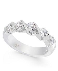 Diamond Twist Band (1 ct. t.w.) in 14k White Gold