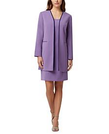 Open-Front Topper Jacket & Sleeveless Sheath Dress