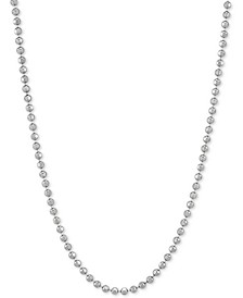 """Bead Link 20"""" Chain Necklace in Sterling Silver"""