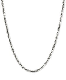 "Crisscross Twist 18"" Chain Necklace in Sterling Silver"