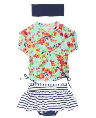Carters Baby Girls Infant Long Sleeve Pocket Mermaid Rash Guard Set