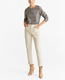 Textured Check Blouse