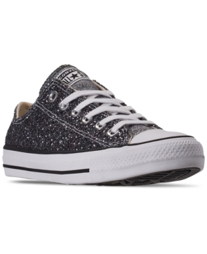 Converse Women's Chuck Taylor All Star Galaxy Dust Ox Low Top Casual Sneakers From Finish Line In Silver/Black/White