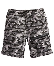 Big Boys Leftout Stretch Twill Moto Shorts, Created For Macy's