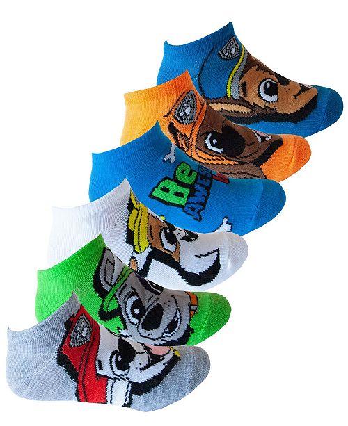 PAW Patrol Toddler Boys 6-Pk. No-Show Socks
