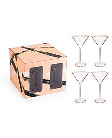 Anything Goes Glassware Martini Glass - Set of 4