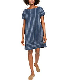 Variegated Stripe Bateau-Neck Dress, Created For Macy's