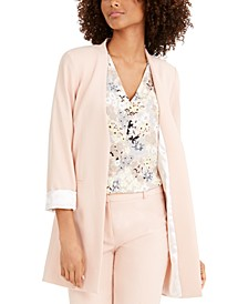 Long Collarless Blazer