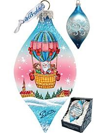 Air Balloon Glass Ornament