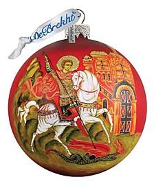 Icon Saint George Ball Glass Ornament