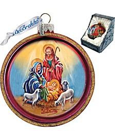 Mary of Vladimir Glass Ornament