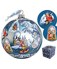Limited Edition Oversized Snow Queen Ball Glass Ornament