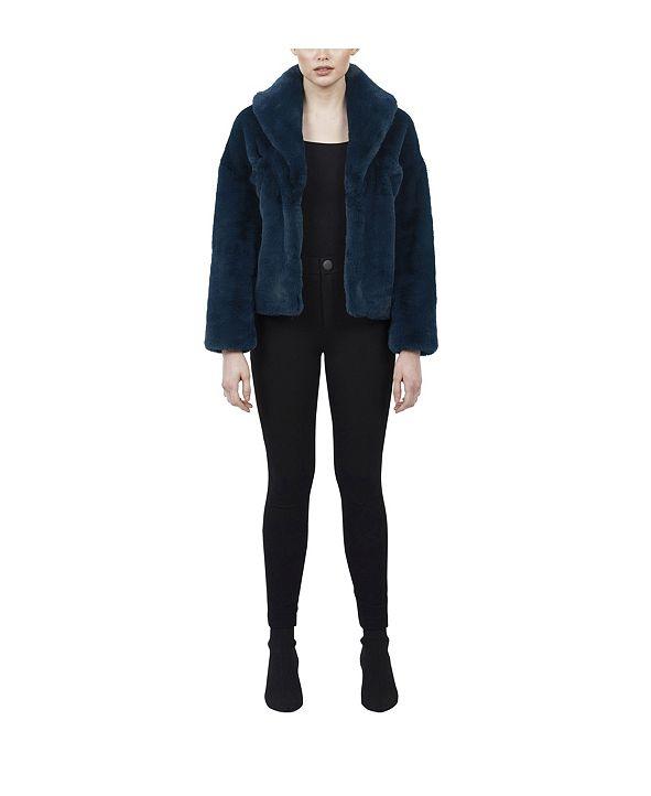 Love Token Tiara Faux Fur Jacket