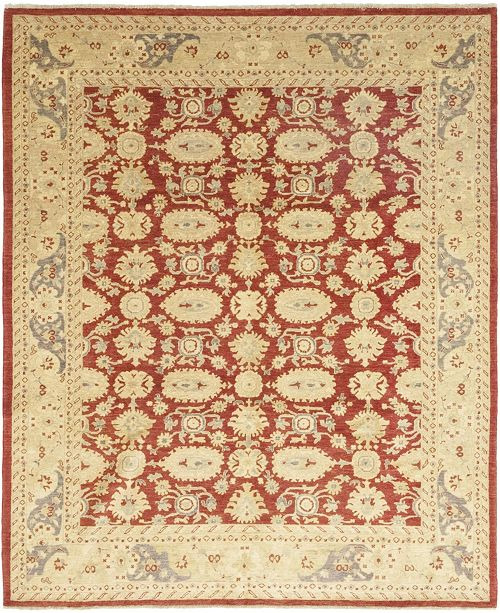 "Timeless Rug Designs CLOSEOUT! One of a Kind OOAK113 Red 8'4"" x 9'10"" Area Rug"