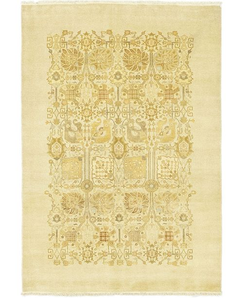 """Timeless Rug Designs CLOSEOUT! One of a Kind OOAK134 Cream 6' x 8'9"""" Area Rug"""