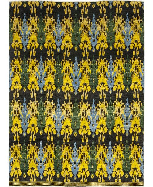 "Timeless Rug Designs CLOSEOUT! One of a Kind OOAK163 Yellow 12'1"" x 15'5"" Area Rug"