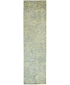 """CLOSEOUT! One of a Kind OOAK236 Green 3'1"""" x 11'10"""" Runner Rug"""