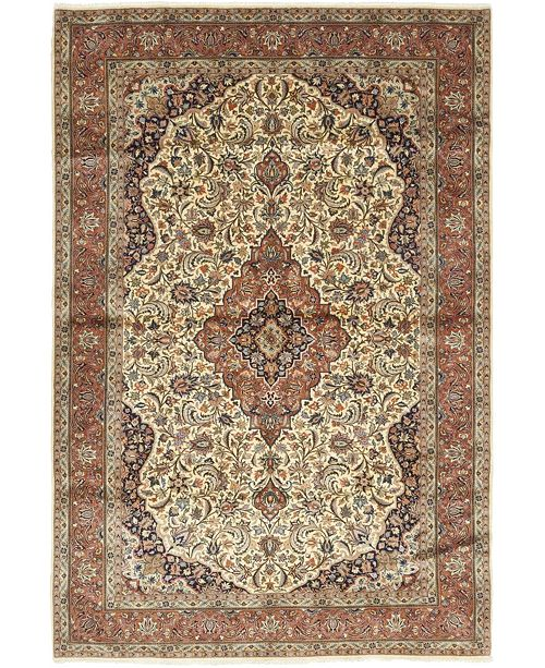 "Timeless Rug Designs CLOSEOUT! One of a Kind OOAK266 Tan 6'10"" x 10'4"" Area Rug"