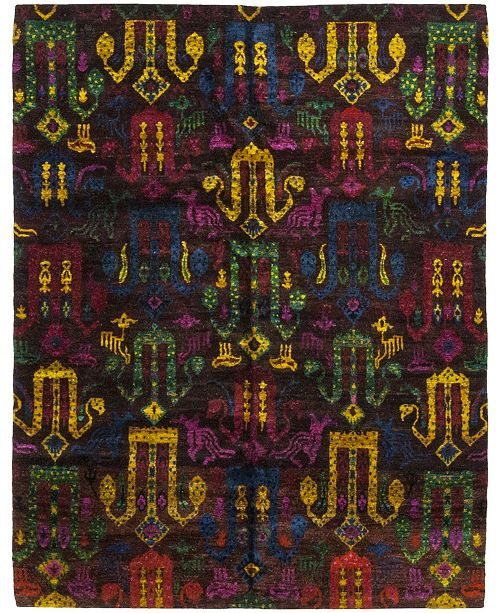 """Timeless Rug Designs CLOSEOUT! One of a Kind OOAK286 Sienna 7'10"""" x 10'1"""" Area Rug"""