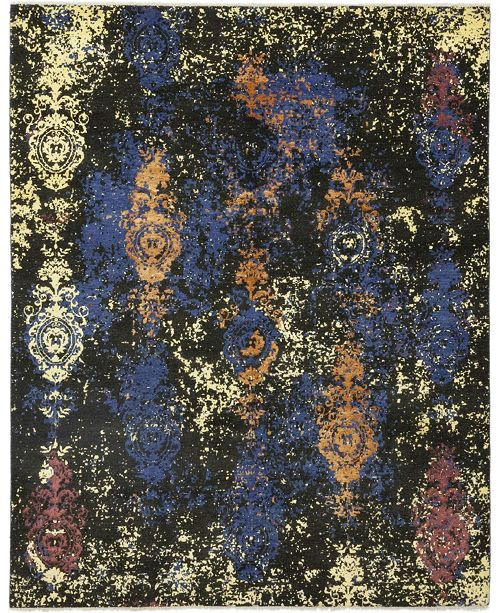 """Timeless Rug Designs CLOSEOUT! One of a Kind OOAK404 Onyx 8'1"""" x 10'1"""" Area Rug"""